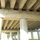 Particolare pile-travoni del viadotto
