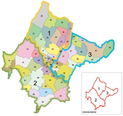 Rete civica del comune di forl for Planimetrie dei quartieri suocera