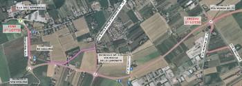 """Planimetria 2° Lotto variante S.P. 3 del """"Rabbi"""""""