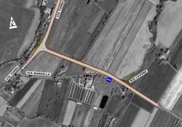 Planimetria di progetto - Tratto di Via Mangella