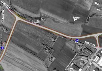 Planimetria di progetto - Tratto da Via Mangella a Via Bouges