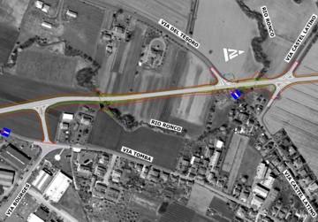 Planimetria di progetto - Tratto da Via Bouges a Via Castel Latino