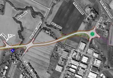 Planimetria di progetto - Tratto da Via Castel Latino a Via Benini
