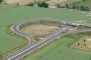 Vista aerea nord-ovest del Ponte raccordo Via Placucci
