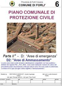 Aree di ammasamento Piano Comunale Protezione Civile