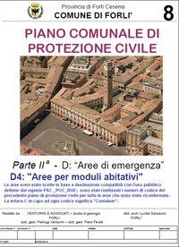 Aree per moduli Piano Comunale Protezione Civile