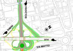 Planimetria Svincolo Tangenziale Est - Variante