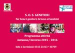SOS Genitori autunno inverno 2015-2016