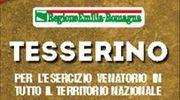 Tesserino di caccia Regione Emilia-Romagna 2016/17