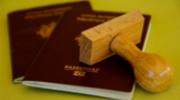 Passaporto con timbro