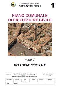 Relazione Generale Piano Comunale di Protezione Civile 2012