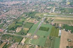 Vista aerea del 2° lotto dela Tangenziale Est a lavori finiti