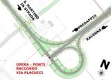 Planimetria Opera ponte raccordo Via Placucci