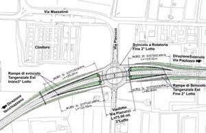 Planimetria di progetto dello Svincolo Via Placucci