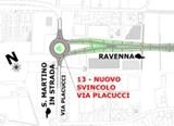Tangenziale Est planimetria Svincolo Via Placucci