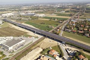 Vista da Sud-Ovest del viadotto